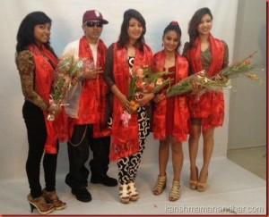 singers Astha B, Nirnaya, Karishma, Karina, Shrijana