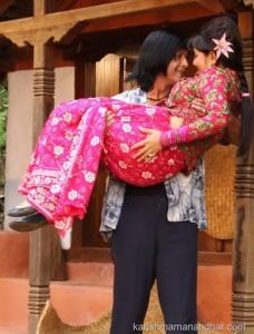 rajesh hamal carries karishma manandhar in kina kina