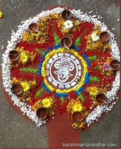 karishma mananhar tihar rangoli - deepawali
