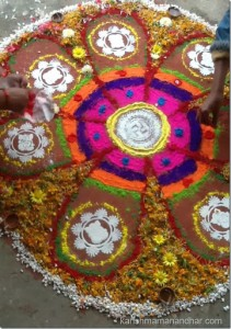 karishma mananhar tihar rangoli