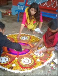 karishma mananhar tihar rangoli-rangoli helping hand
