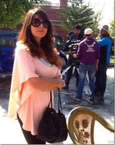 Karishma Manandhar shooting TVC - IGT Gas  (2)