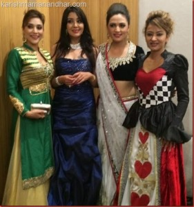Karishma with other actresses in Malaysia