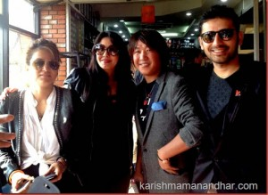 karishma rajesh payal rai and jharana in Kathamndu airport