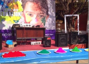 Karishma manandhar home holi 2014 - sound system
