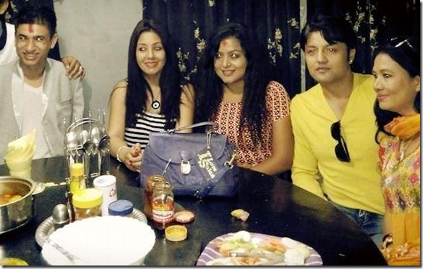 karishma manandhar - dashain party (3)